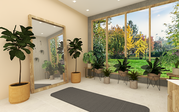 Interior design for a yoga room or a meditation room for you to rest, relax, and meditate. A calming and soothing room is the best to give you clarity.