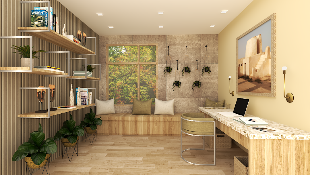 Interior design for a study room.